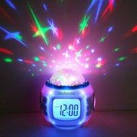 Wholesale Desktop Table Clocks Despertador Music Starry Star Sky Projection Alarm Clock Calendar Thermometer For Best Gift Relogio De Mesa