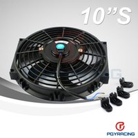 radiators - PQY STORE Inch Universal V W Slim Reversible Electric Radiator AUTO FAN Push Pull With mounting kit Type S