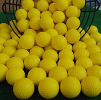 Wholesale New golf Balls Soft Indoor Practice PU Yellow Golf Balls Training Aid golf pelotas TY438