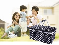 Wholesale HOT New Picnic lunch bag Foldable Reuseable Compact Tote lunch cooler Bag Picnic Basket Environment Friendly