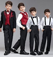 Wholesale Boy s Formal Wear Children s Business Suit Flower Girl Dress The Boy s Costumes Student Chorus Of Clothing Mini Suit