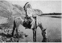 american native plants - 2015 Best Selling x30 Blackfoot Indian Poster Native American on Horseback Poster For House
