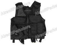 airsoft holster vest - Fall Airsoft Tactical Combat Hunting Vest Lightweight with Holster Pouch Colors BK