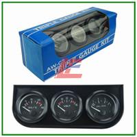 Wholesale 52MM Triple gauge in combation Volt oil temp Oil press kit auto gauge