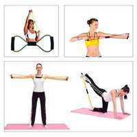fitness body building - Fitness Body Building Resistance Bands Yoga Strap Belt Characters Pull Rope Pilates Chest Expander Yoga Supplies H14102