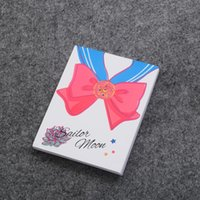 Wholesale Anime Sailor Moon Notebook Hot Cute Cartoon Tsukino Usagi Bowtie Pattern Collection Diary Book for Gifts