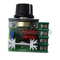 Wholesale 1Pcs V W Speed Controller SCR Voltage Regulator Dimming Dimmers Thermostat
