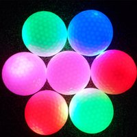Wholesale Golf LED flash ball pieces surlyn dimples golf practice glow ball golf club night course ball multi colors available