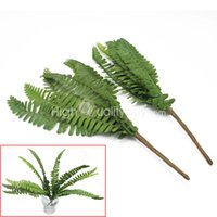 artificial flower company - wedding decoration companies Hot X Artificial Green Fern Leave Foliage Fake Plant Party Wedding Decoration wedding decoration companies