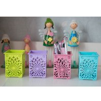 Wholesale Hot Sell Creative Mini Carved Pencil Holder Organizer Office Desk Pen Containers Desktop Decoration Desk Tidy Various In Colors