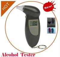 bac tester - Portable Chain LCD Display Digital Alcohol Breath Tester BAC Max Professional Breathalyzer Meter Analyzer Detector