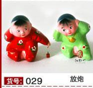 ceramic figurines - Unique Cute Handicrafts Little Clay figurines Doll Chinese Culture Painted sculpture Home Decorations with boxes