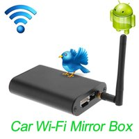 Wholesale car dvd DLNA Smart Screen Mirroring Wi Fi Mirror Box Airplay Miracast Car Wi Fi Mirror Box Universal for any Car Audio order lt no track