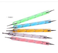 Wholesale Manufacturers selling flowers double needle set screw rod coarse grain diamond pen tool Manicure