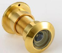 Wholesale Security Degree Door Scope Viewer Security Hotel Door Scope Viewer Cover Peep Hole Gold Tone New