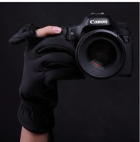 Cheap Wholesale-Shooting gloves Photography gloves Camera Gloves DSLR gloves for Canon 5D2 5D3 70D 60D 600D 100D,ect free shipping +tarcking
