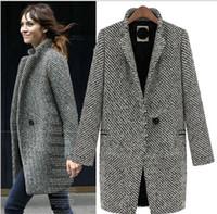 Wholesale women s Swallow gird long trench coats Lapel Neck leisure outwear suit coat S XL CO