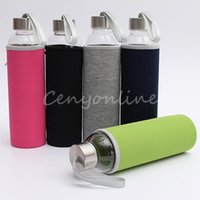 Wholesale New Stylish BPA Free Glass Sport Water Bottle with Tea Filter Infuser Protective Bag ml Fruit Outdoor Eco Friendly order lt no track