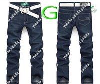 slim fit jeans - New Arrival Fashion Men s Jeans Casual Classic Straight Jeans Men Slim Fit Denim Trousers Plus Size KUQ003