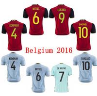 Wholesale BELGIUM HAZARD DE BRUYNE KOMPANY VERTONGHEN WITSEL VERMARLEN shirts kit Football Shirt Kits Soccer Jersey camisa