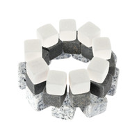 Wholesale 9pcs Whisky Whisky Ice Stones Set Drinks Cooler Cubes Beer Rocks Granite Pouch H12489