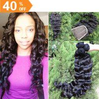 Cheap Malaysian virgin hair loose wave 3pcs hair bundles with free style france lace closure bleached knots can be dyed bleach best qualit