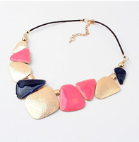 Wholesale 2015 new fashion accessories sale collier femme jewelry brand resin created gemstone vintage statement necklace pendants