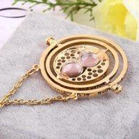 Wholesale 2015 New arrival Hot sale best quality New Fashion Harry Potter time converter k gold necklace Time Turner harry potter neck