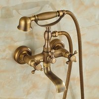 bathroom telephone - And Retail Modern Antique Brass Wall Mounted Bathroom Tub Faucet W Telephone Style Hand Shower Sprayer
