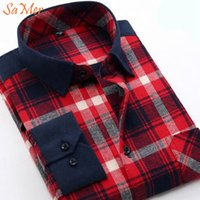 basic flannel - SaMer Vintage Long Sleeve Men Plaid Shirts Flannel Basic Cotton Soft Relaxed Fit Men Casual Tartan Flannel Shirts Chemise Homme