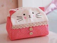 Wholesale Lovely panda cloth art tissue box household creative cartoon plush tissue box
