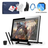 Wholesale Pens UGEE UG UG2150 Digital Graphic Drawing Tablet Kit quot IPS Monitor x1080 Protector Cover Glove USB Cable