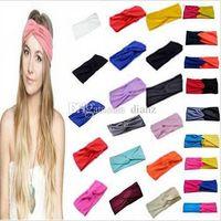 Wholesale New Arrive Women Stretch Twist Headband Turban Sport Yoga Head Wrap Bandana Headwear Hair Accessories