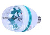 crystal ball wholesale - HOT W RGB DJ Stage Rotating Lighting Bulb Disco Crystal Ball Lights E27 Base Lamp RGB LED