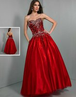 Cheap 2015 A Line Red Tulle Crystals Sequins WOW Prom Dresses 6006 Beading Floor Length Elastic Satin Backless Winter Formal Cheap Evening Gowns