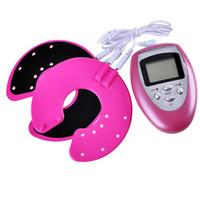 Wholesale Electronic Nipple Vibrator Breast Enlargement Enhancer Massager Magic Cup Tens Muscle Massage Bra fino massageador Massager