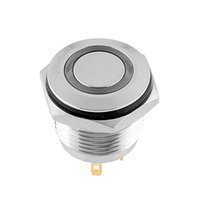 Cheap 16mm OD Red LED Lighted Ring Illuminated Momentary Push Button For Car Free shipping
