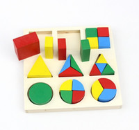 wooden matches - 2015 Children Baby Boys Girls Wooden Shape Matching Blocks Sets Kids Baby Learning Education Wooden Shapes Match Brick Block Set D3776