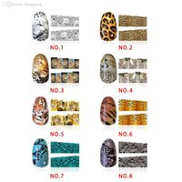 animal print nail - animal nail decals full wraps leopard Tiger snake Print Black Water Transfer Stickers sticker sizes hot selling
