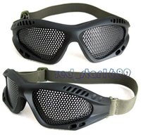 Wholesale New Metal Mesh Protection Product Anti Impact Airsoft Eye Goggle Glasses Wire Mesh Airsoft Anti Fog Black color