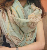 animal totems - 2015 New Autumn Winter Women Shawl Korean Style Totem Vintage Flowers Scarf Lady Boho Twill Long Cotton Silk Scarves
