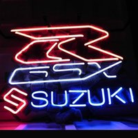 auto shop lighting - 17 quot x14 quot Suzuki Asian Auto design Real Glass Neon Light Signs Bar Pub Restaurant Billiards Shops Display Signboards