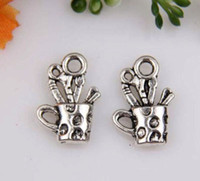 antique silver cups - Hot Antique Silver zinc alloy Cup Charm pendants DIY Jewelry x mm mm19