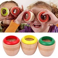 baby study - Wooden Magic Kaleidoscope Kids Child Baby Fun Educational Classic Toy Kaleidoscope science study cute modelling wooden toys Free DHL