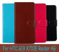 bag raiders - PU Leather Wallet Flip Cover Case For HTC G19 X710E Raider G inch Cell Phones Bag Gift Touch Pen