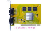 Promoción libre del envío de la venta caliente libre del envío de 16 canales dvr pci d1recording tarjeta de captura de vídeo de la cámara de seguridad CCTV 480fps