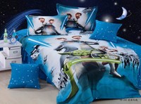 Wholesale 2016 designs Star Wars Bedding sets spiderman mickey princess Bedding The Force Awakens Duvet Cover sheets pillowcase set for Kid