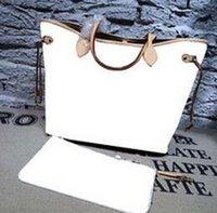 achat en gros de sacs en cuir à fermeture à glissière-1: 1 designer de qualité en cuir véritable va s'oxyder jamais / fulls mm / gm femmes sac fourre-tout avec embrayage amovible à glissière Shoulder Bags