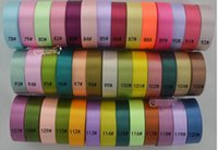 Wholesale 100yards mm single face satin ribbon polyester ribbon roll total yard belt gift packing wedding decoration