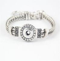 Wholesale DIY Noosa Chunks Crystal Bracelets Silver Plated Interchangeable mm Snap Buttons Stainless Steel Jewelry Women Fashion Bracelet DCBJ237